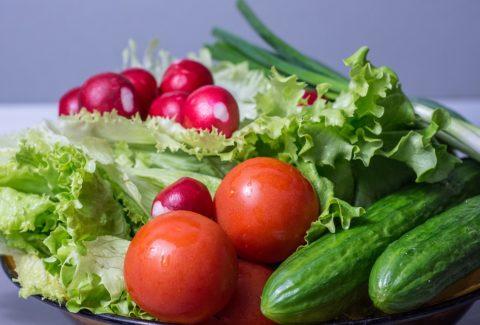 Fresh vegetables at best restaurant near port orange and daytona beach