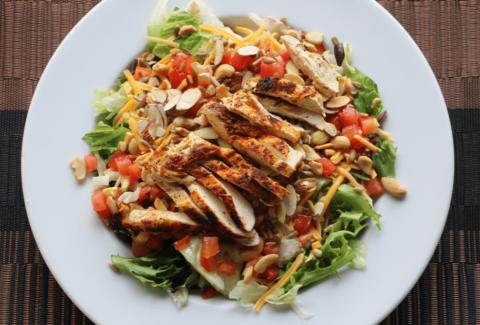 Blackend chicken salad