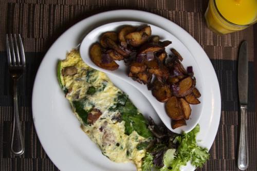 SpinachBaconMushroom Omelet